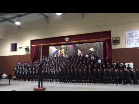 小俣中学校2年生学年合唱 「怪獣のバラード」