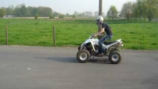 8. Yamaha raptor 350 wheelies