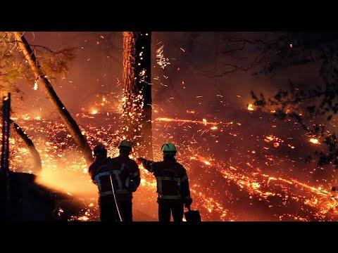 Μεγάλη πυρκαγιά κατακαίει εκτάσεις δυτικά της Μασσαλίας…