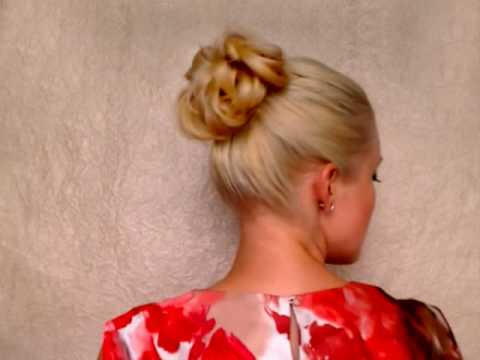 New Years glam updo Messy bun hairstyles for long hair elegant bridesmaid