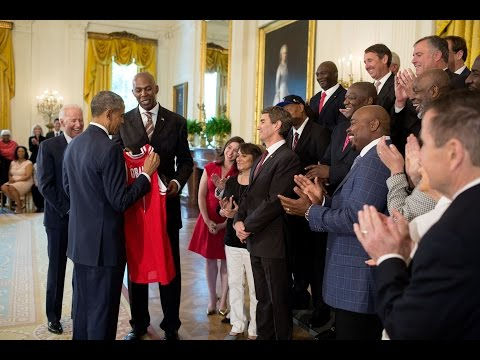 The 1983 NC State Champs Visit the White House