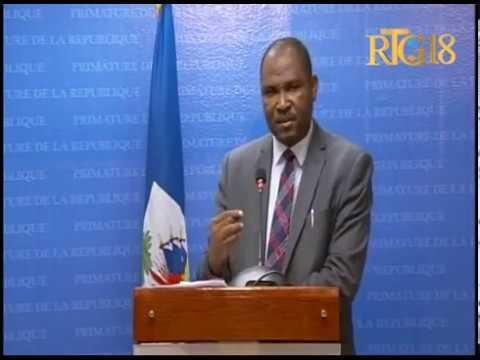 Gouvernement haïtien / Conférence de presse