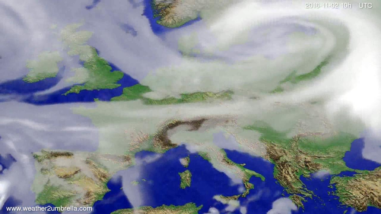 Cloud forecast Europe 2016-10-31