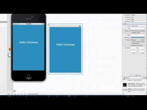 iOS Development Tutorial – 3 –  Navigating Xcode and your first app