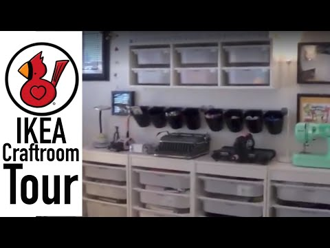 Video #131 Ikea craft room tour