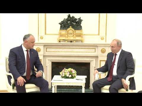 Președintele Republicii Moldova a avut o întrevedere cu Președintele Federației Ruse