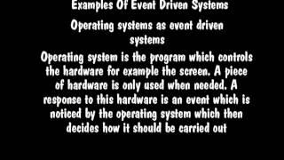 Key characteristics of event driven programs