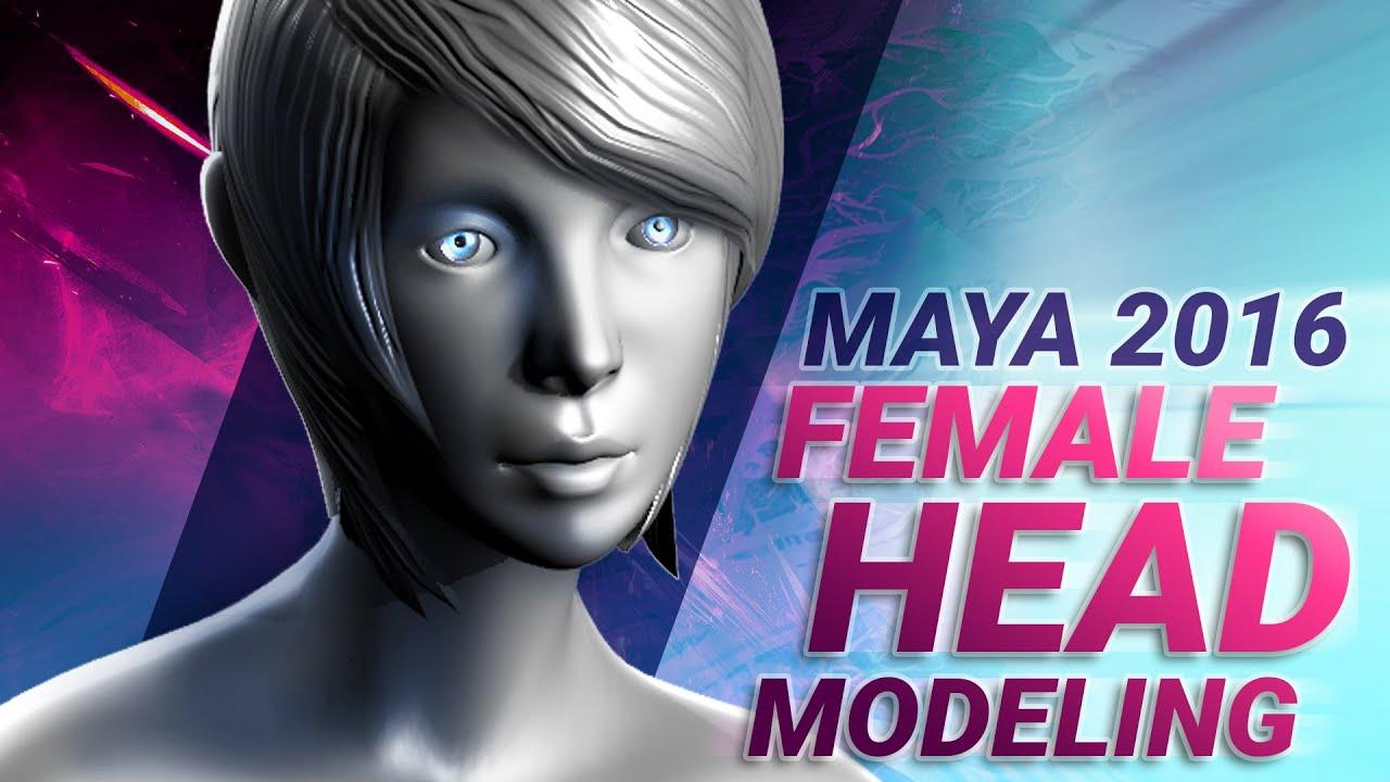 modeling female head 3d animation maya tutorial