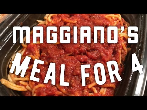 The Family Meal From Maggiano's Little Italy Restaurant Review
