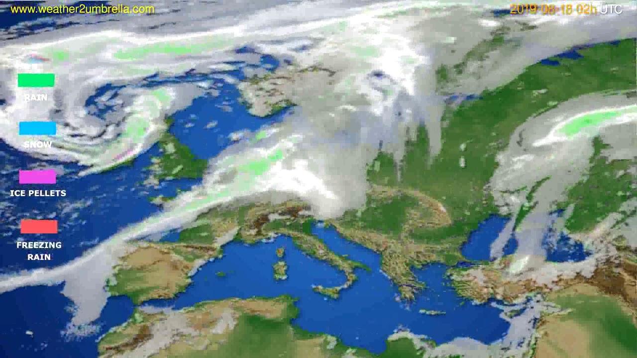 Precipitation forecast Europe // modelrun: 12h UTC 2019-08-15