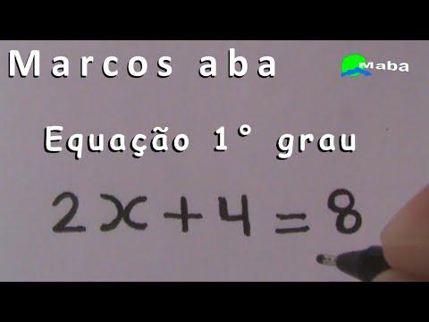 Equação do Primeiro grau  -  matemática