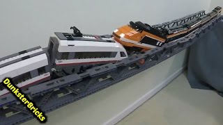 LEGO Train Crash and Bridge Collapse!!!  Bridge Failed Completely!!