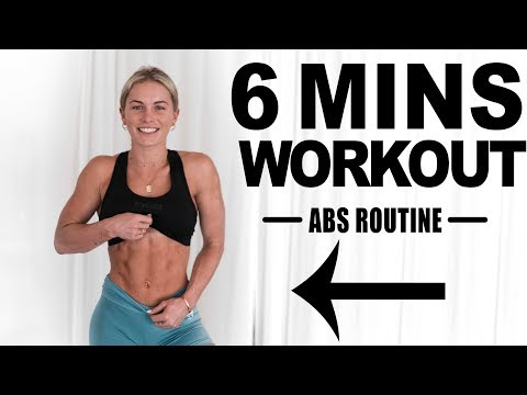6 MINUTE AB WORKOUT!!! (no equipment)