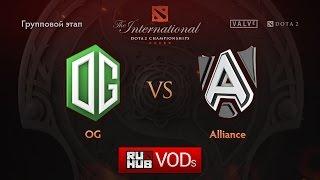 OG vs Alliance, game 1