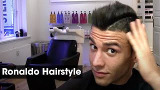 Cristiano Ronaldo Inspired Haircut Tutorial | How To Style & Cut A Football Soccor Hairstyle