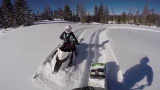 8. 16 year old girl riding a Arctic Cat XF 8000 141