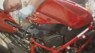 9. Ducati Superbike Fuel Tank Removal  848 1098 1198