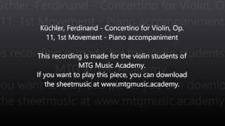 Download Lagu Küchler, Ferdinand - Concertino for Violin, Op. 11, 1st Movement - Piano accompaniment Mp3