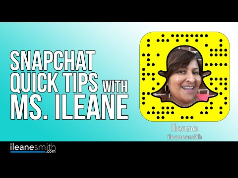 Watch 'Snapchat for Seniors! Quick Tips for Growing Your Snapchat Following with Ms. Ileane '