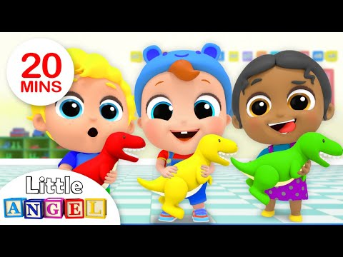 Playtime with New School Friends | Preschool Friends Song | Nursery Rhymes by Little Angel - Thời lượng: 20 phút.