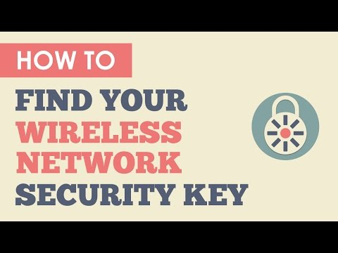 how to recover network security key