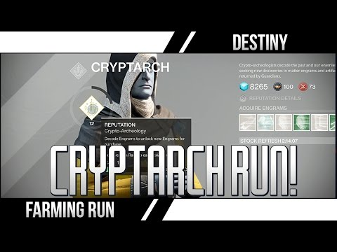 2. - Destiny Legendary Run! Yet another Destiny Method! This time we collect as much Glimmer as possible and level up the Cryptarch Reputation to get Legendary Packages from the postmaster! Upvote...