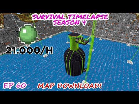 Huge Slime Farm | Minecraft Survival Timelapse Season 4 Episode 60