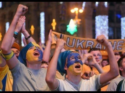 Ukraine fans celebrate hero Andriy Shevchenko