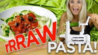 Raw Pasta Recipe w Raw Pasta Sauce | The Edgy Veg