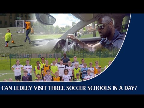 Video: Can Ledley King visit three Soccer Schools in a single day?