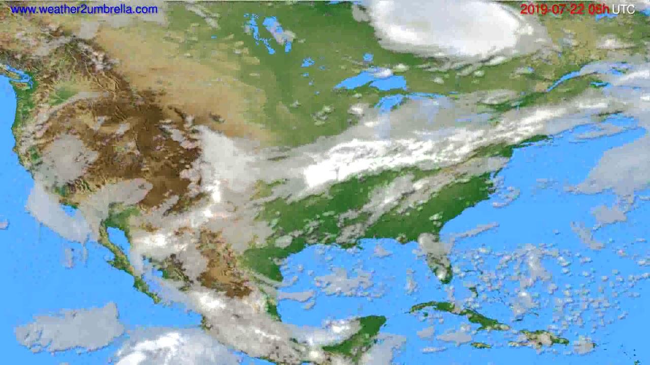 Cloud forecast USA & Canada // modelrun: 12h UTC 2019-07-19