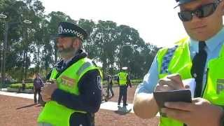 Australian Federal Police attempt to seize NITV News footage of the Frontier Wars Canberra March from Saturday 25 April.