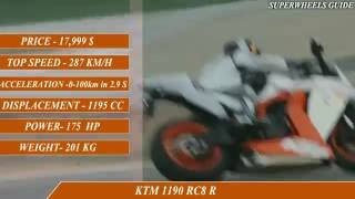 5. MV Augusta F4 RR vs KTM 1190 RC8R -specifications