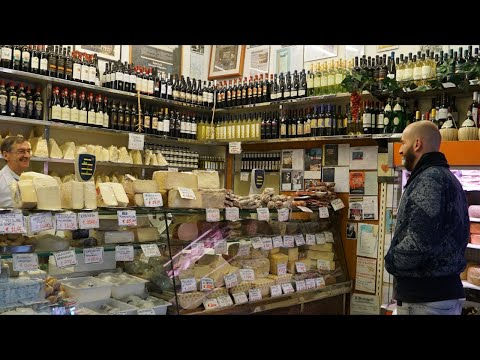 Fresh Market Meat and Cheese Extravaganza in Rome, Italy (видео)