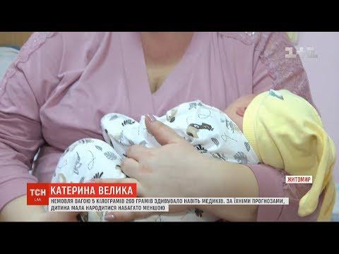 Екатерина Великая: в Житомире родилась девочка весом более 5 килограммов