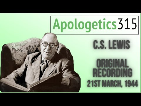 cs lewis - This is the only surviving audio of C.S. Lewis's broadcast talks. The New Men is the last episode in Beyond Personality, the third series. It was broadcast o...