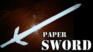 How To Make A Long Paper Sword    Ninja Sword