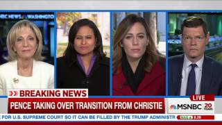Sources say Mike Pence is taking over Donald Trump's presidential transition team from Chris Christie. MSNBC's Thomas Roberts...