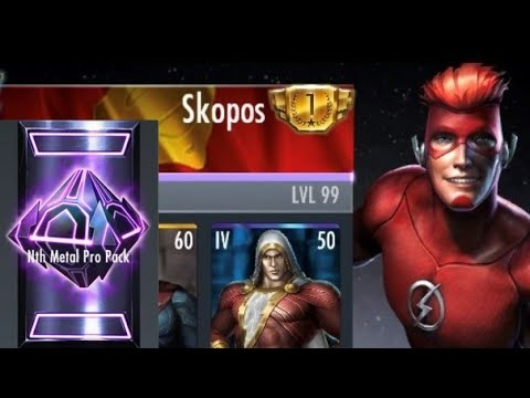 Injustice Mobile - iOS #1 Multiplayer Gameplay + Nth Metal Pack Opening
