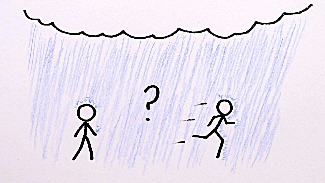 Video: Is it better to walk or to run in the rain?