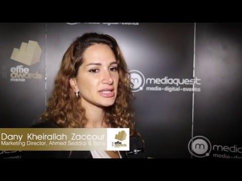 Effie MENA Awards 2015 - Dany Kheirallah Zaccour - Marketing Director - Ahmed Seddiqi & Sons