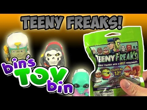 bin - Just in time for Halloween, we open Teeny Freaks! Mystery Blind Bags featuring double-sided minifigures - one side an everyday person, the other side a creepy creature! Each bag comes with...