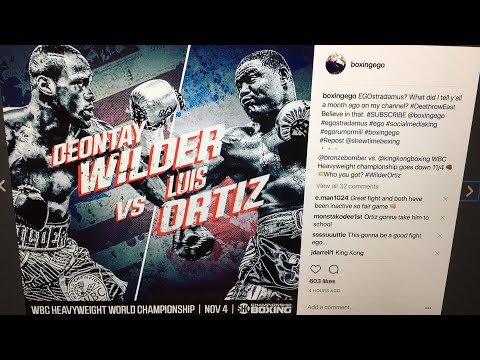 Live Chat: Deontay Wilder v KING KONG Luis Ortiz CONFIRMED