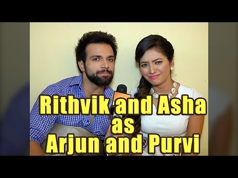 Rithvik and Asha as Arjun Purvi in Kumkum Bhaghya