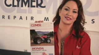 6. Clymer Manuals Honda TRX450 Foreman Shop Service Repair Maintenance ATV Quad Manual Video