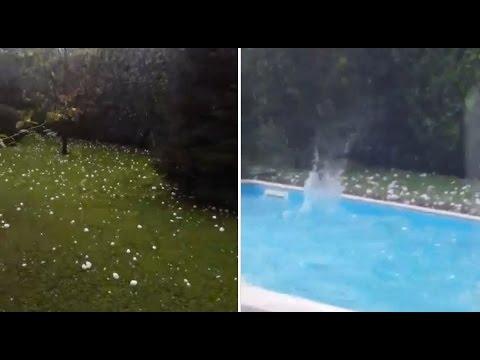 grandinata a napoli: le immagini della tempesta!