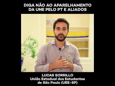 Lucas Sorrillo: não ao aparelhamento da UNE pelo PT e aliados