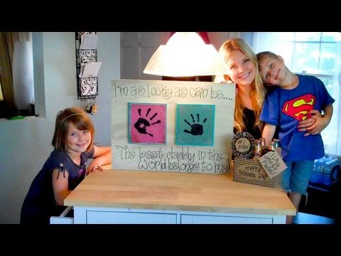 fathers day gift - Hey everyone!! Happy Father's Day! I just made a quick vlog today to show you a couple fun crafts we made for Casey. We had a lot of fun making them, and we ...