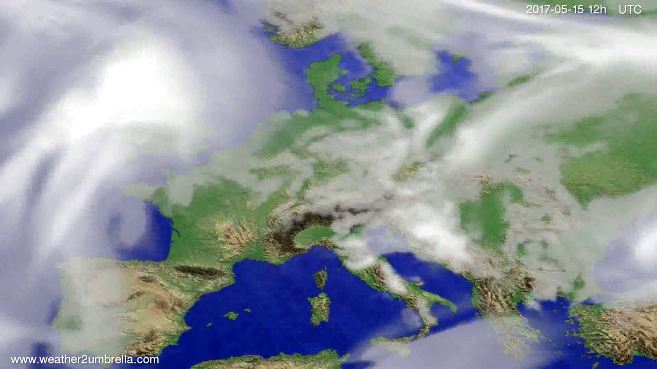 Cloud forecast Europe 2017-05-13