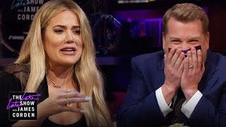 James and Khloe Kardashian take turns asking each other very personal questions about Carpool Karaoke and OJ's innocence, ...